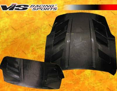 VIS Racing - Nissan 350Z VIS Racing AMS Black Carbon Fiber Hood - 03NS3502DAMS-010C