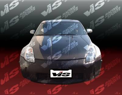 VIS Racing - Nissan 350Z VIS Racing OEM Black Carbon Fiber Hood - 03NS3502DOE-010C