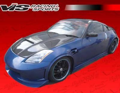 VIS Racing - Nissan 350Z VIS Racing Viper Black Carbon Fiber Hood - 03NS3502DVR-010C