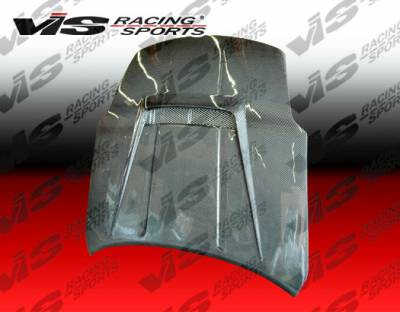 VIS Racing - Nissan 350Z VIS Racing Invader-2 Black Carbon Fiber Hood - 03NS3502DVS2-010C