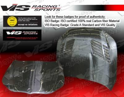 VIS Racing - BMW 5 Series VIS Racing GTR Black Carbon Fiber Hood - 04BME604DGTR-010C