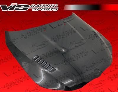 VIS Racing - BMW 5 Series VIS Racing XTS Black Carbon Fiber Hood - 04BME604DXTS-010C