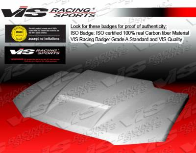 VIS Racing - Chevrolet Colorado VIS Racing Fiberglass Ram Air Hood - 04CHCOL2DRAM-010