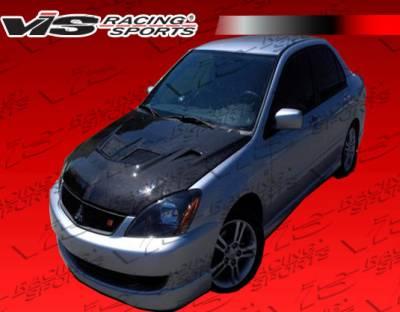 VIS Racing - Mitsubishi Lancer VIS Racing EVO Black Carbon Fiber Hood - 04MTLAN4DEV-010C