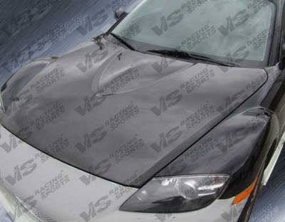 VIS Racing - Mazda RX-8 VIS Racing OEM Style Carbon Fiber Hood - 04MZRX82DOE-010C