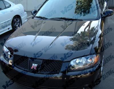 VIS Racing - Nissan Sentra VIS Racing OEM Black Carbon Fiber Hood - 04NSSEN4DOE-010C