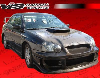 VIS Racing - Subaru WRX VIS Racing OEM Black Carbon Fiber Hood with Scoop - 04SBWRX4DSTI-010C
