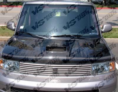 VIS Racing - Scion xB VIS Racing Techno R Black Carbon Fiber Hood - 04SNXB4DTNR-010C
