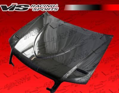 VIS Racing - Audi S4 VIS Racing Euro R Black Carbon Fiber Hood - 05AUS44DEUR-010C