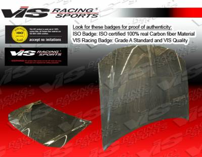 VIS Racing - Dodge Magnum VIS Racing OEM Black Carbon Fiber Hood - 05DGMAG4DOE-010C