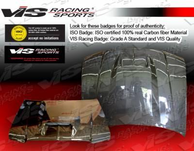 VIS Racing - Dodge Magnum VIS Racing SRT Black Carbon Fiber Hood - 05DGMAG4DSRT-010C