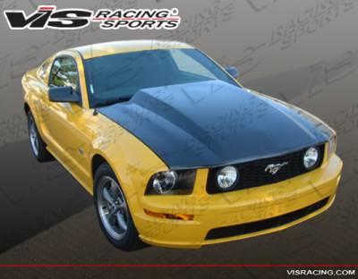 VIS Racing - Ford Mustang VIS Racing Cowl Induction Black Carbon Fiber Hood - 05FDMUS2DCI-010C
