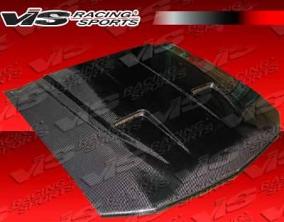 VIS Racing - Ford Mustang VIS Racing Mach-1 Black Carbon Fiber Hood - 05FDMUS2DMK1-010C