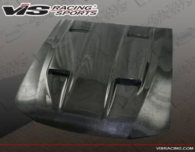 VIS Racing - Ford Mustang VIS Racing Mach-5 Black Carbon Fiber Hood - 05FDMUS2DMK5-010C