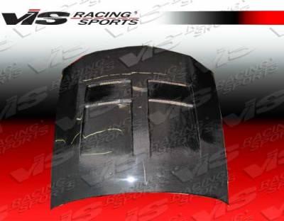 VIS Racing - Ford Mustang VIS Racing TSW Black Carbon Fiber Hood - 05FDMUS2DTSW-010C