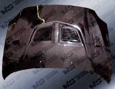 VIS Racing - Scion tC VIS Racing EVO Black Carbon Fiber Hood - 05SNTC2DEV-010C