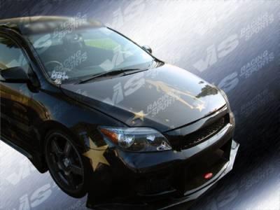 VIS Racing - Scion tC VIS Racing OEM Black Carbon Fiber Hood - 05SNTC2DOE-010C
