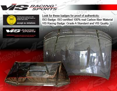 VIS Racing - Toyota Tacoma VIS Racing SR-5 Black Carbon Fiber Hood - 05TYTAC2DSR5-010C