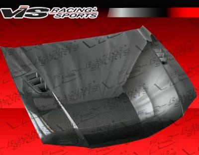 VIS Racing - Acura TSX VIS Racing RR Black Carbon Fiber Hood - 06ACTSX4DRR-010C