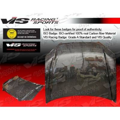 VIS Racing - Audi A4 VIS Racing OEM Black Carbon Fiber Hood - 06AUA44DOE-010C