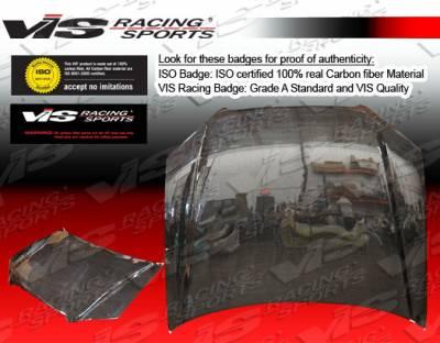 VIS Racing - BMW 3 Series 4DR VIS Racing OEM Black Carbon Fiber Hood - 06BME904DOE-010C