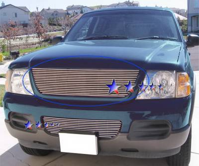 APS - Ford Explorer APS Billet Grille - Upper - Stainless Steel - F85331S