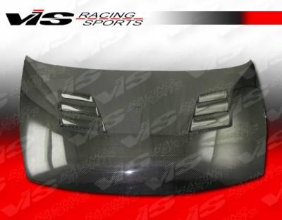 VIS Racing - Honda Civic 2DR VIS Racing Techno R Black Carbon Fiber Hood - 06HDCVC2DTNR-010C