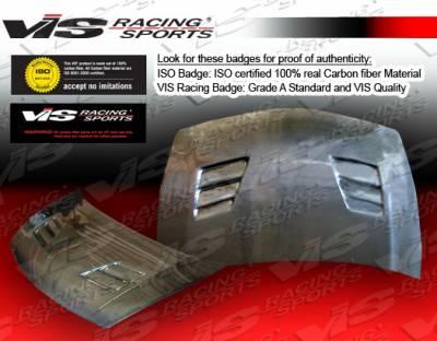 VIS Racing - Honda Civic VIS Racing Techno R Black Carbon Fiber Hood - 06HDCVC4DJTNR-010C
