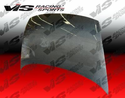 VIS Racing - Honda Civic 4DR VIS Racing OEM Black Carbon Fiber Hood - 06HDCVC4DOE-010C