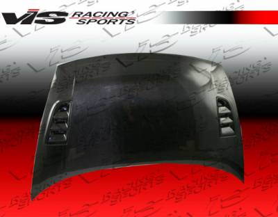 VIS Racing - Honda Civic 4DR VIS Racing RR Black Carbon Fiber Hood - 06HDCVC4DRR-010C