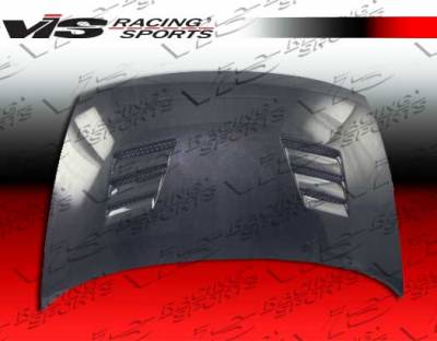 VIS Racing - Honda Civic 4DR VIS Racing Techno R Black Carbon Fiber Hood - 06HDCVC4DTNR-010C