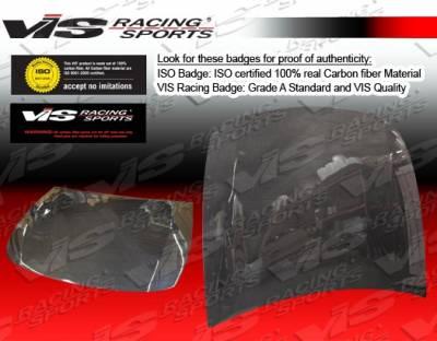 VIS Racing - Lexus IS VIS Racing OEM Black Carbon Fiber Hood - 06LXIS34DOE-010C