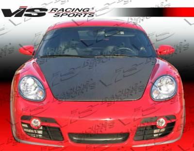 VIS Racing - Porsche Cayman VIS Racing OEM Black Carbon Fiber Hood - 06PSCAM2DOE-010C