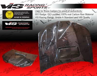 VIS Racing - Subaru WRX VIS Racing STI Black Carbon Fiber Hood - 06SBWRX4DSTI-010C