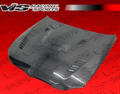 VIS Racing - BMW 3 Series 2DR VIS Racing XTS Black Carbon Fiber Hood - 07BME922DXTS-010C