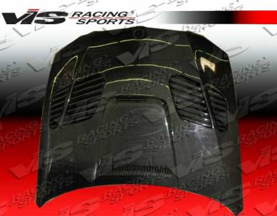 VIS Racing - BMW 3 Series VIS Racing GTR Black Carbon Fiber Hood - 07BME92M32DGTR-010C