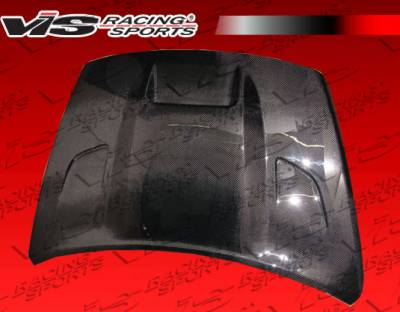 VIS Racing - Dodge Caliber VIS Racing SRT Black Carbon Fiber Hood - 07DGCAL4DSRT-010C