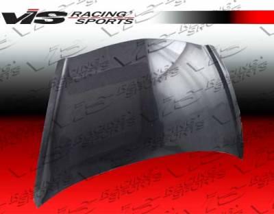 VIS Racing - Honda Fit VIS Racing OEM Black Carbon Fiber Hood - 07HDFIT4DOE-010C