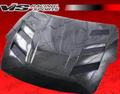 VIS Racing - Nissan 350Z VIS Racing AMS Black Carbon Fiber Hood - 07NS3502DAMS-010C