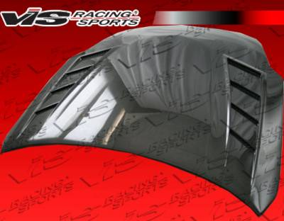 VIS Racing - Nissan 350Z VIS Racing Terminator GT Heat Extractor Carbon Fiber Hood - 07NS3502DTMGT-010C