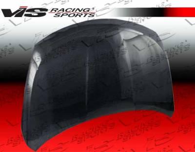 VIS Racing - Nissan Versa VIS Racing OEM Black Carbon Fiber Hood - 07NSVERHBOE-010C