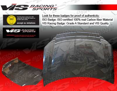 VIS Racing - Toyota Yaris VIS Racing OEM Black Carbon Fiber Hood - 07TYYAR4DOE-010C