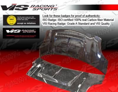VIS Racing - Toyota Yaris VIS Racing Monster Black Carbon Fiber Hood - 07TYYARHBMON-010C