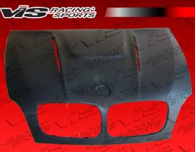 VIS Racing - BMW X6 VIS Racing EVO GT Black Carbon Fiber Hood - 08BME714DEGT-010C