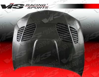 VIS Racing - BMW 1 Series VIS Racing GTR Black Carbon Fiber Hood - 08BME822DGTR-010C