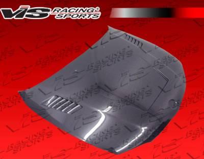VIS Racing - BMW 1 Series VIS Racing XTS Black Carbon Fiber Hood - 08BME822DXTS-010C