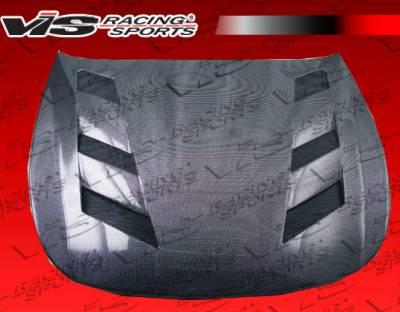 VIS Racing - Infiniti G37 VIS Racing AMS Black Carbon Fiber Hood - 08ING372DAMS-010C