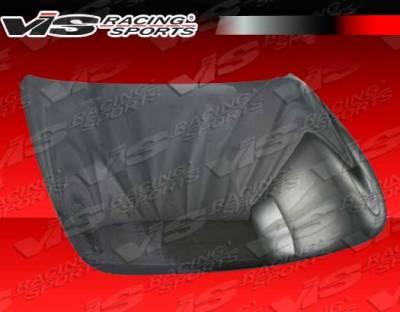 VIS Racing - Infiniti G37 VIS Racing OEM Black Carbon Fiber Hood - 08ING372DOE-010C