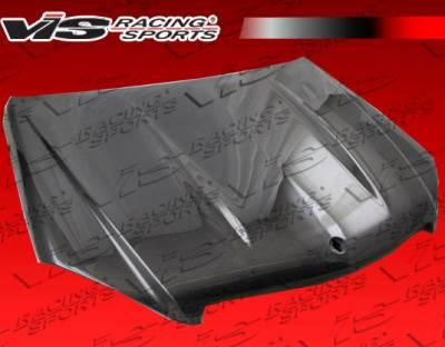 VIS Racing - Mercedes-Benz C Class VIS Racing C63 Black Carbon Fiber Hood - 08MEW2044DC63-010C