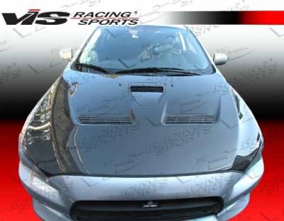 VIS Racing - Mitsubishi Lancer VIS Racing OEM Black Carbon Fiber Hood - 08MTEV104DOE-010C